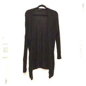 Long black cardigan